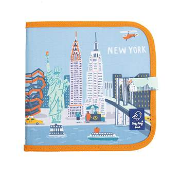 Cahier ardoise illustré Jaq Jaq Bird - Cities of wonder New York