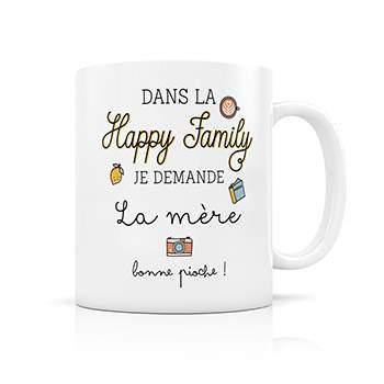 Mug Happy Family Créabisontine - Mère