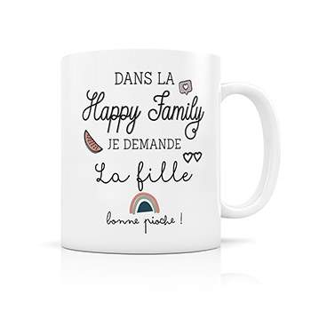 Mug Happy Family Créabisontine - Fille