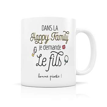 Mug Happy Family Créabisontine - FIls