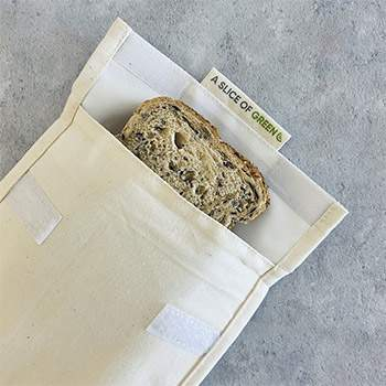 Pochette en coton bio A Slice of Green