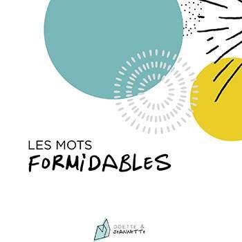 Album souvenirs Les Mots Formidables Odette & Jeannette