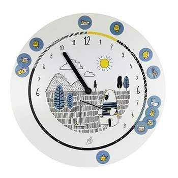 Horloge 24 heures 20 aimants Odette & Jeannette - Ours
