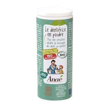 Dentifrice en poudre Bio Anaé 40g - menthol extra frais