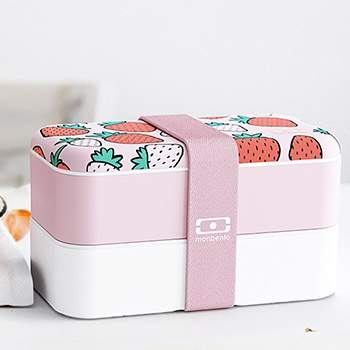 Boite Bento Original Monbento - Graphic  Strawberry
