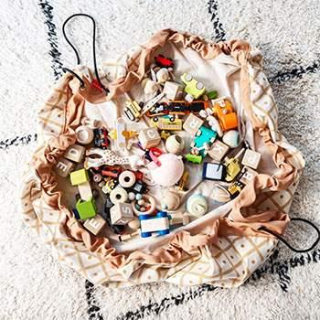 Sac de rangement pour jouets Play & Go - Geo Mustard