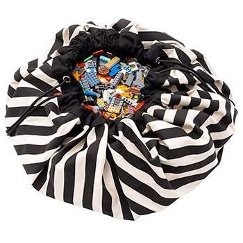 Sac de rangement pour jouets Play & Go - Rayé noir