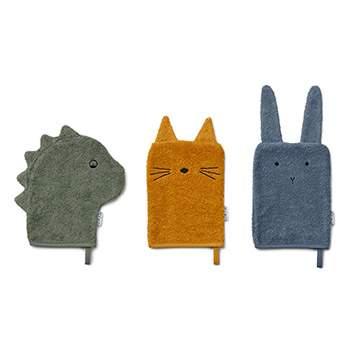 Lot de 3 gants en coton bio Liewood - Dino Mix