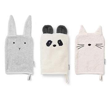 Lot de 3 gants en coton bio Liewood - Girlie