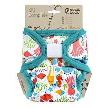 Couche lavable Tout-En-2 Petit Lulu à Velcro - nouvelle version