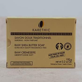 Savon doux traditionnel au Grand Cru de Karité 100g Karethic