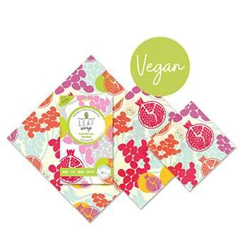 Lot de 3 emballages réutilisables VEGAN BeeBee - Pomegranate
