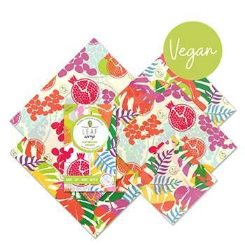 Lot de 5 emballages réutilisables VEGAN BeeBee - Tropical