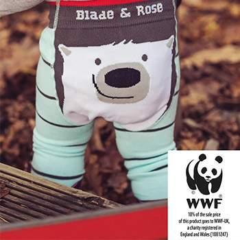 Leggings bébé Blade & Rose en coton bio WWF Ours polaire