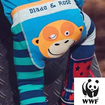 Leggings bébé Blade & Rose en coton bio WWF Orang-outan