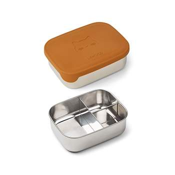 Lunchbox en inox et silicone Liewood - Chat moutarde