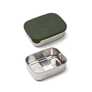 Lunchbox en inox et silicone Liewood - Ours vert