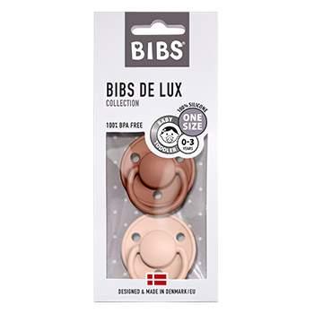 Pack de 2 tétines de Lux en silicone Bibs -Terracotta/rose