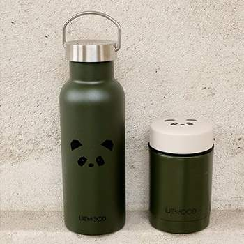 Gourde en inox isotherme 500ml Liewood - Panda vert