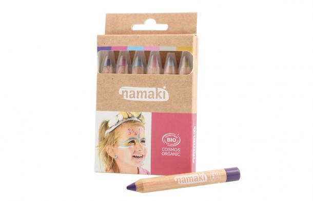 Kit 6 crayons de maquillage Namaki - Mondes enchantés