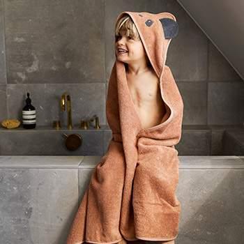 Cape de bain en coton bioLiewood - Panda Rose Toscane