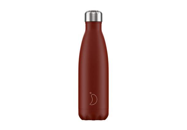 Bouteille isotherme Chilly's bottles - Mat Rouge-500 ml