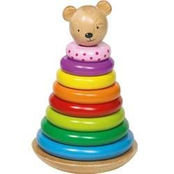 Ours en bois à empiler Goki