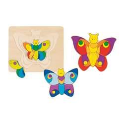 Puzzle Bois Papillons 4 couches