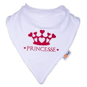 Bavoir bandana Lookidz Princesse fond blanc