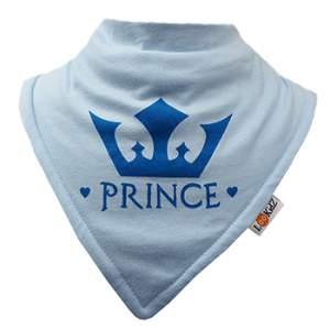 Bavoir bandana Lookidz Prince fond ciel