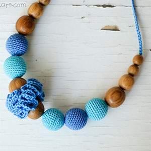 Collier d'allaitement / portage KangarooCare Classic Denim-bleu clair