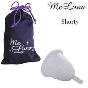 Coupe menstruelle Meluna Shorty Tige Transparent