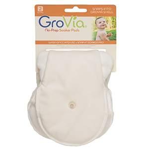 Lot de 2 inserts Stay dri microfibre à goussets Grovia