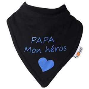 Bavoir bandana Lookidz Papa mon héros