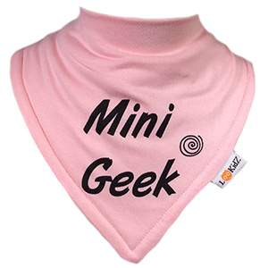 Bavoir bandana Lookidz Mini geek rose