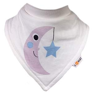 Bavoir bandana Lookidz Lune & étoile