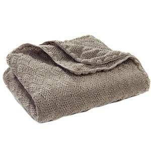 Couverture en laine merinos Disana Gris clair