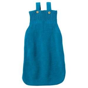 Gigoteuse en laine merinos Turquoise Disana