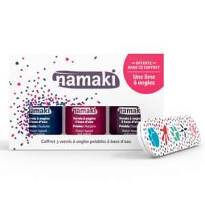 Coffret vernis à ongles Namaki Bleu nuit, Griotte & Prune