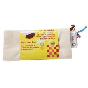 5 sacs réutilisables céréales et légumineuses Ah Table !