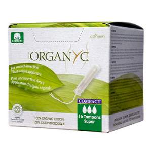 Tampons Compact Super avec applicateur Organyc