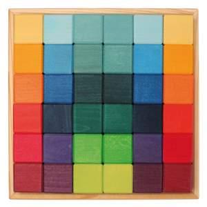 36 cubes en bois - jeu de construction Grimm's