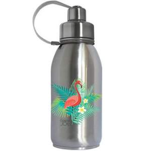 Gourde isotherme Friendly inox Gaspajoe - Flamant Rose