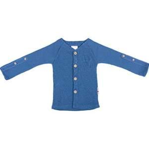Gilet évolutif en laine mérinos Manymonths Cosmos blue