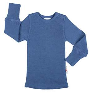 T-Shirt évolutif en laine Manymonths Cosmos Blue