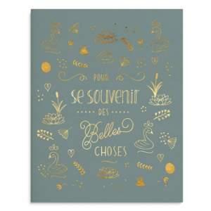 Cahier A5 Créabisontine - Se souvenir des belles choses