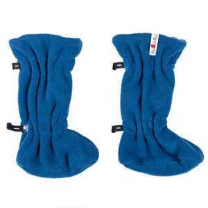 Chaussons de portage ajustables en laine/polaire Manymonths - Cosmos Blue