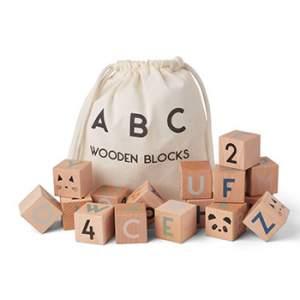 Lot de 24 blocs en bois Liewood