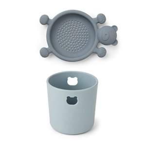 Mini set pour la plage en silicone Liewood - Bleu