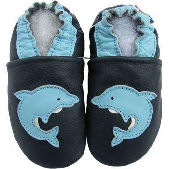 Chaussons cuir souple dauphin Carozoo